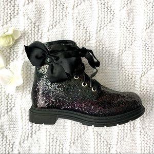 Other - Black Glitter Rainbow Boot